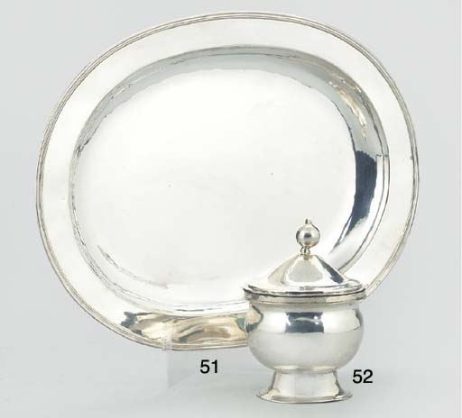 A BELGIAN SILVER BOWL AND AN A