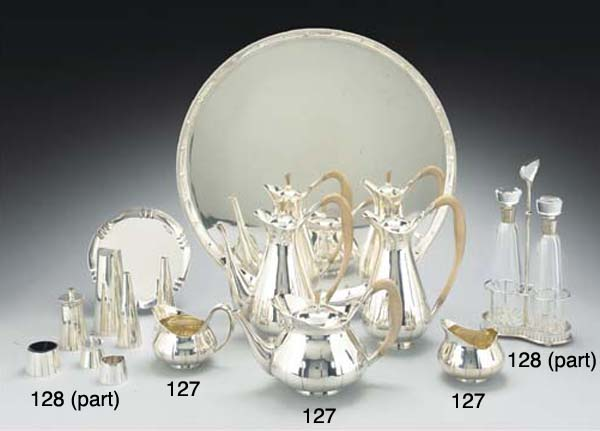 A GROUP OF MODERN SILVER CONDI