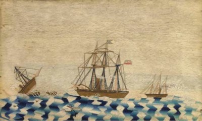 A 19TH CENTURY SAILOR'S WOOLWO