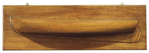A HALF-MODEL OF A SAILING CUTT