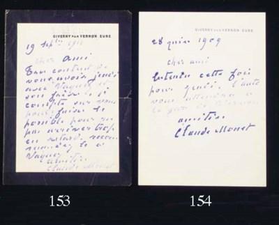 MONET, Claude (1840-1926). Aut