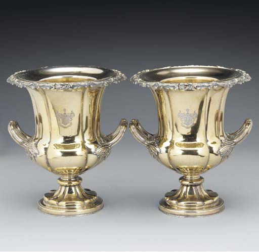 A Pair of Gilt Old Sheffield P