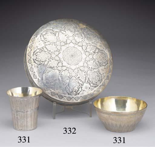 A Turkish Silver Beaker and Bo