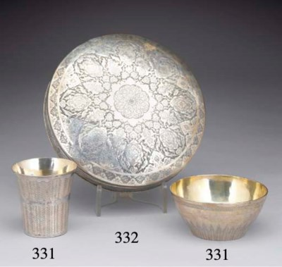 A Turkish Silver Beaker and Bo