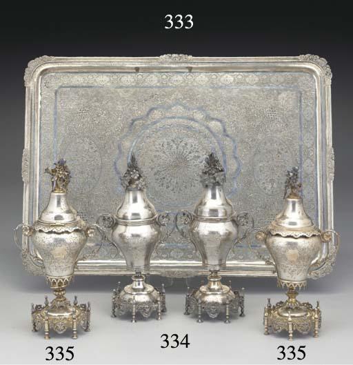 A Persian Silver Tray