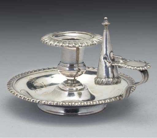 A French Silver Chamber Candle