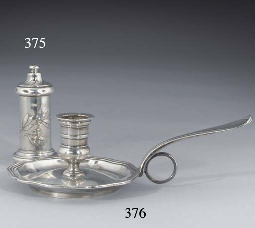 A Swiss Silver Chamber Candles