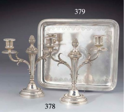 A French Silver Tray