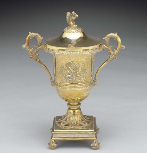 A French Silver-Gilt Cup and C