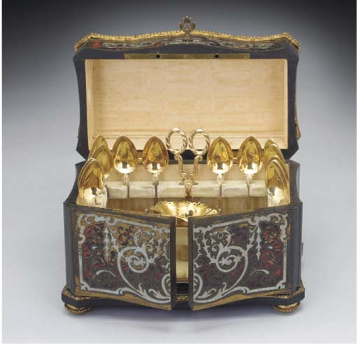A Cased Set of French Silver-G