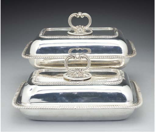 A Pair of George V Silver Entr