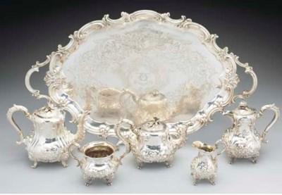 A Five-Piece Victorian Silver