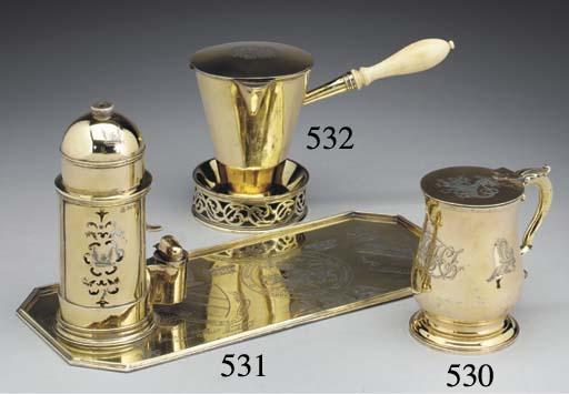 A Victorian Silver-Gilt Shavin