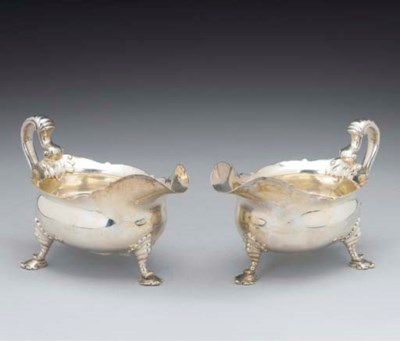 A Pair of Victorian Silver Sau