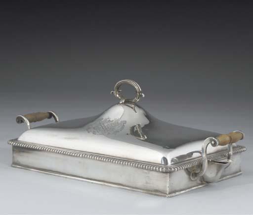 A George III Silver Chafing Di