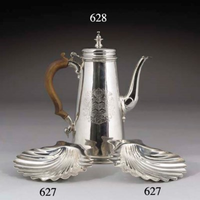 A Pair of George II Silver But