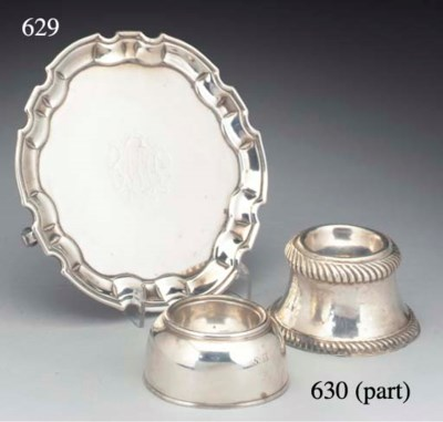 Two Silver Trencher Salts