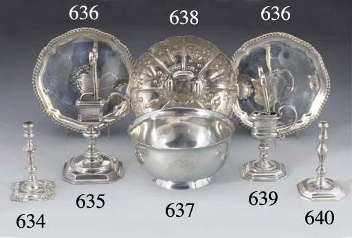 A George II Silver Taperstick