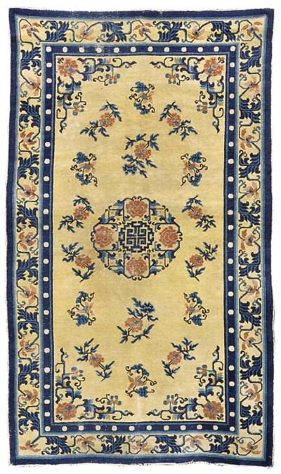 An antique Peking rug, China