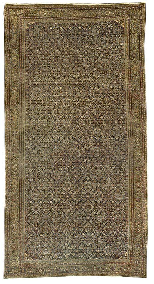 An antique Feraghan carpet, We