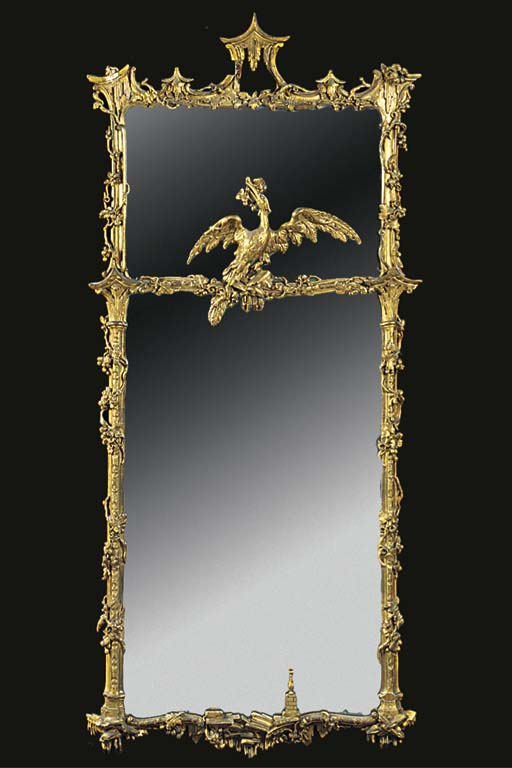 A GILTWOOD AND GESSO PIER MIRR