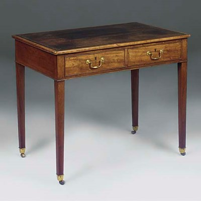 A GEORGE III MAHOGANY WRITING