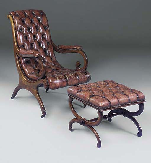 A WILLIAM IV ROSEWOOD X-FRAME