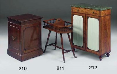A MAHOGANY PLATE STAND