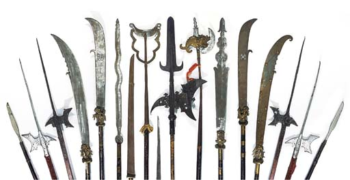 A GROUP OF ORNAMENTAL ARMOURY