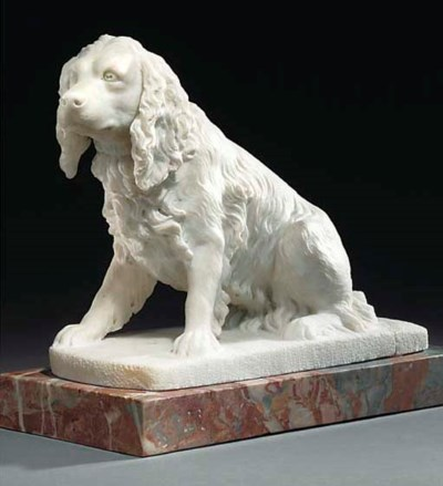 A SCULPTED WHITE MARBLE MODEL
