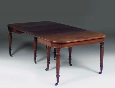 A LATE REGENCY MAHOGANY EXTEND