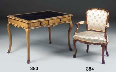 A LOUIS XV FRUITWOOD FAUTEUIL