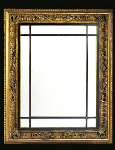 A GILTWOOD AND GESSO MARGINAL