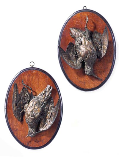 A PAIR OF BRONZE ANIMALIER WAL