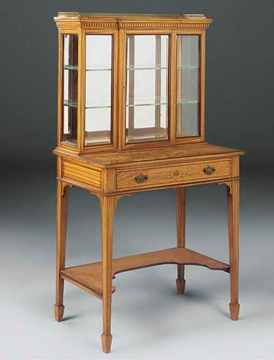 AN EDWARDIAN SATINWOOD AND INL