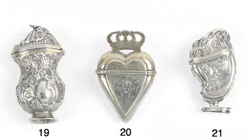 A Danish Parcel-Gilt Silver Vinaigrette