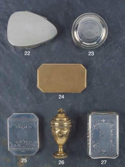 A Continental Silver Snuff Box