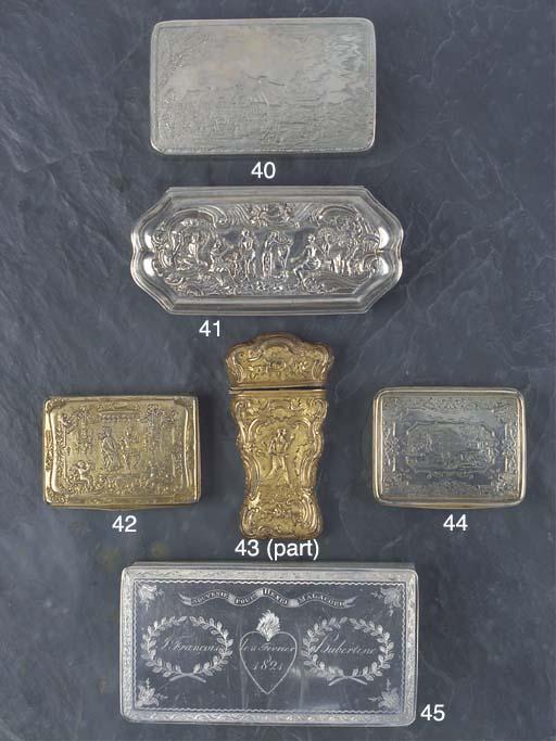 A German Silver-Gilt Snuff Box