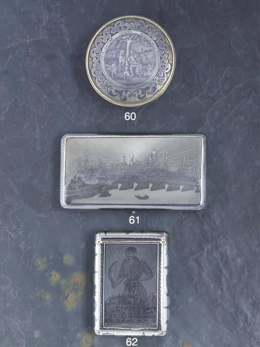 A Russian Nielloed Silver Ciga