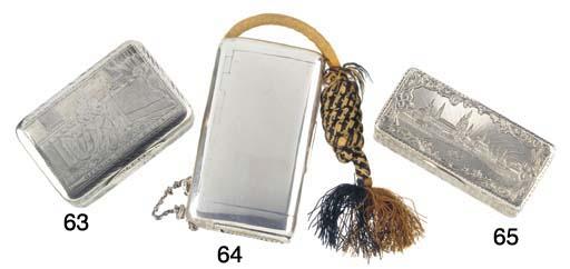 A Russian Silver Snuff Box