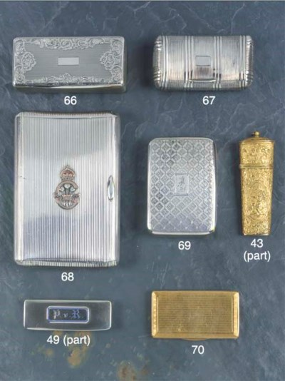 A 18ct Gold Cigarette Case
