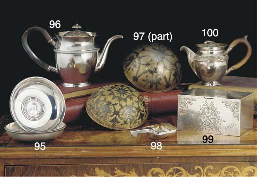 A Russian Coin-Set Silver Dish