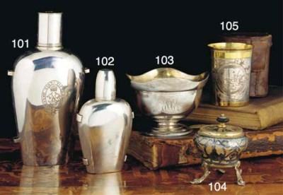 A Russian Silver Flask