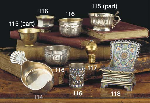A Russian Gem-Set Gold Cane Ha