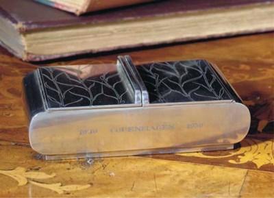 A Danish Silver Cigarette Box