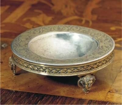 A German Silver-Gilt Salt