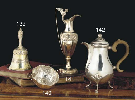 A Dutch Silver-Gilt Table Bell