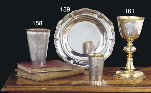 A Continental Parcel-Gilt Silver Beaker