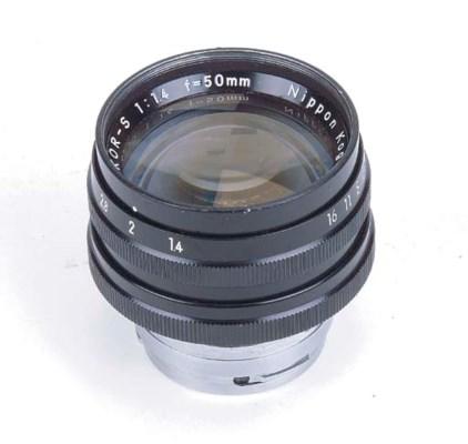 Nikkor-S f/1.4 50mm. no. 14044
