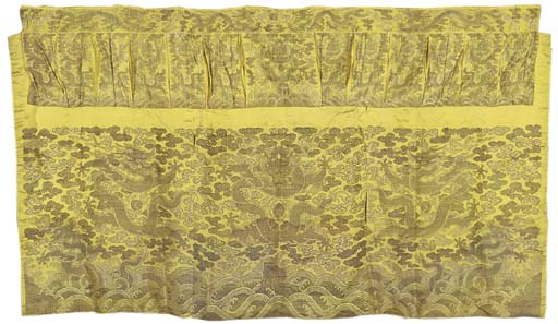 AN ALTAR FRONTAL OF GOLDEN YEL